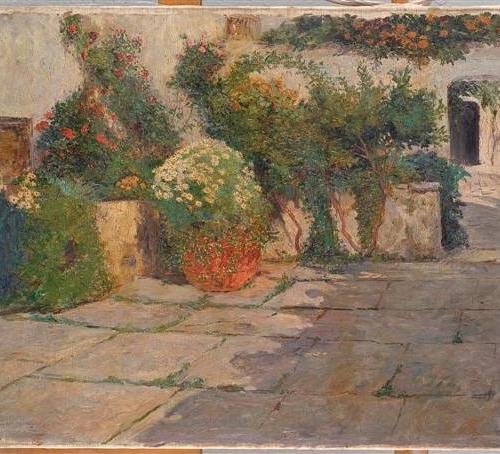 Menci Clement Crnčić - Vrt u Trogiru,1903., 100 vrhunskih djela hrvatskih umjetnika iz fundusa Narodnog muzaja u Beogradu, 2007.