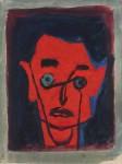 Ivo Dulčić: Crveni autoportret, oko 1960.